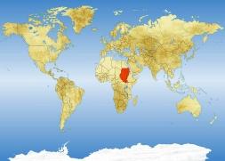 Sudan položajna karta